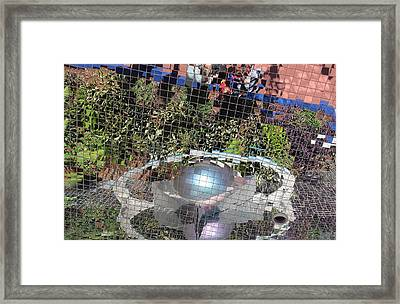Abstracted Reflection 2 Framed Print by Michael Saunders