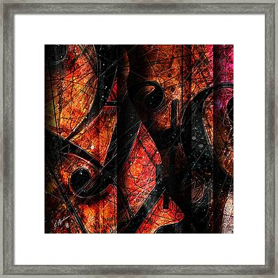 Abstracta_01 Symblz Framed Print by Gary Bodnar