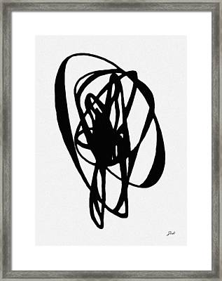 Framed Print featuring the painting Astratto - Abstract 19 by Ze  Di