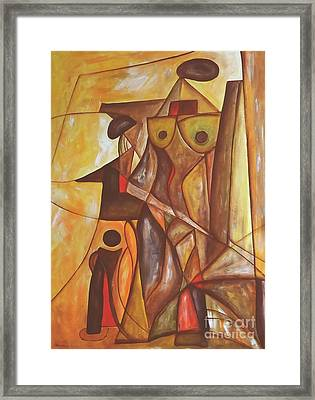 Abstraction 486-10-13 Marucii Framed Print by Marek Lutek
