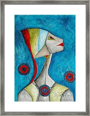 Abstraction 698 -marucii Framed Print by Marek Lutek