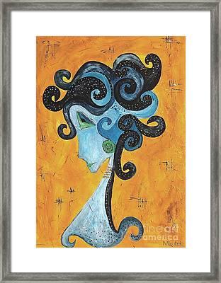 Abstraction 699 -marucii Framed Print by Marek Lutek