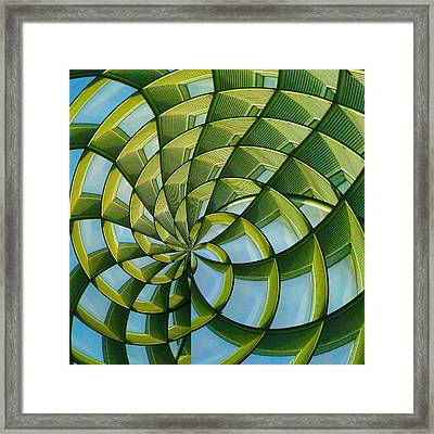 Abstraction A La M. C. Escher Framed Print
