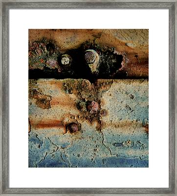 Abstraction Gap Abstraction Framed Print by Odd Jeppesen