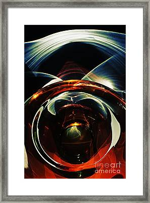 Abstraction Glass Framed Print