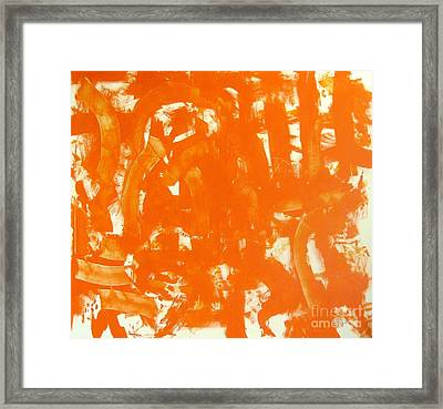 Abstraction In Orange Framed Print by Venus