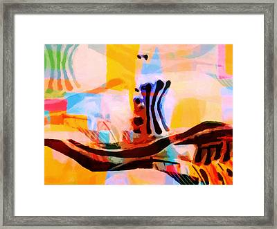 Colorful Abstraction Framed Print by Lutz Baar