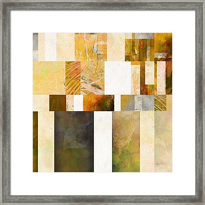 Abstraction On A Square Three Framed Print