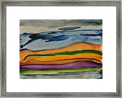Abstractscape Framed Print by Marsha Heiken