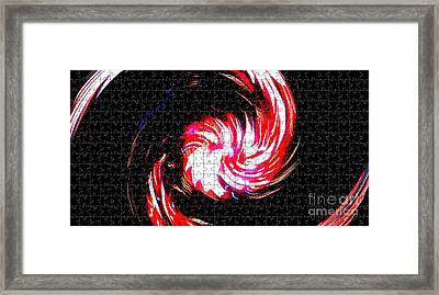 Abstrait - Firework - Ile De La Reunion - Indian Ocean Framed Print by Francoise Leandre