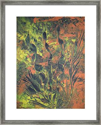 Framed Print featuring the painting Abstrakte Farben by Nico Bielow