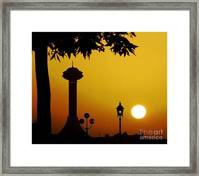 Framed Print featuring the photograph Abu Dhabi by Andrea Anderegg