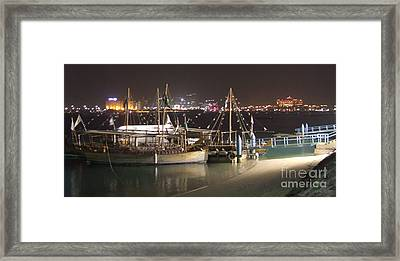 Abu Dhabi At Night Framed Print by Andrea Anderegg