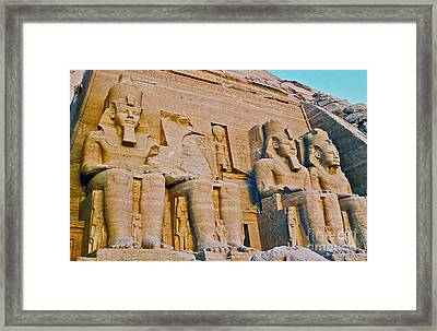 Framed Print featuring the photograph Abu Simbel by Cassandra Buckley