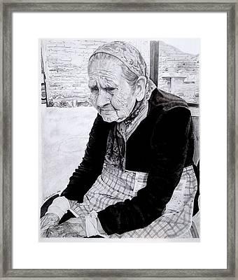 Abuela Pina Framed Print by Rodrigo Luna