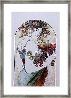 Abundance After Mucha Framed Print