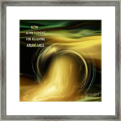 Abundance - Inspirational Art By Giada Rossi Framed Print