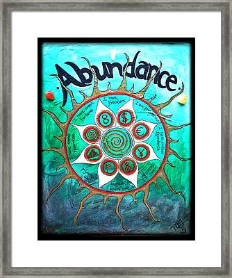 Abundance Money Magnet - Healing Art Framed Print