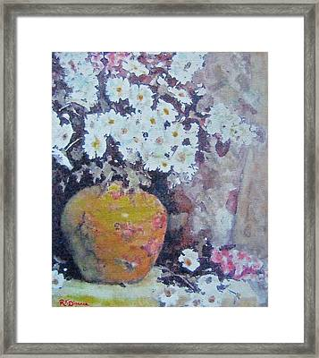 Abundance Of Daisies Framed Print by Richard James Digance