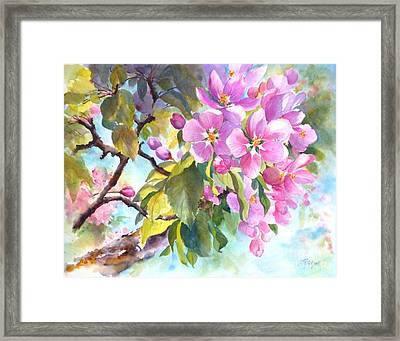 Abundant Grace Framed Print by Betty M M   Wong