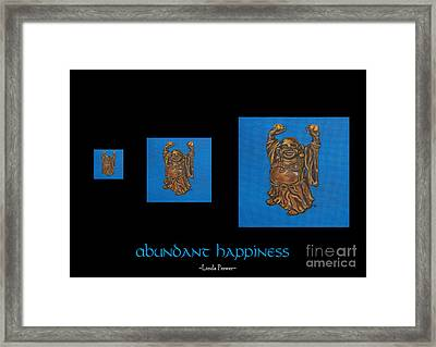 Framed Print featuring the painting Abundant Happiness by Linda Prewer