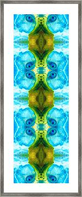 Abundant Life - Pattern Art By Sharon Cummings Framed Print by Sharon Cummings