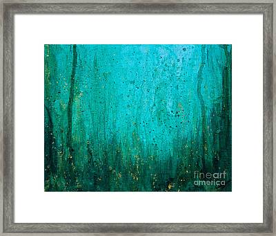 Framed Print featuring the painting Abyss by Melissa Sherbon