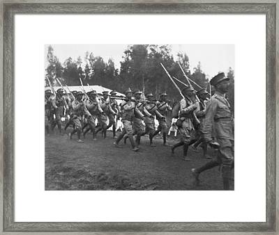 Abyssinian Troops Marching Framed Print