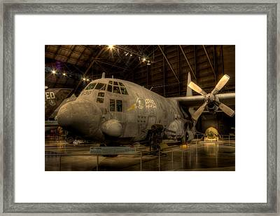 Ac-130 Gunship Framed Print by David Dufresne