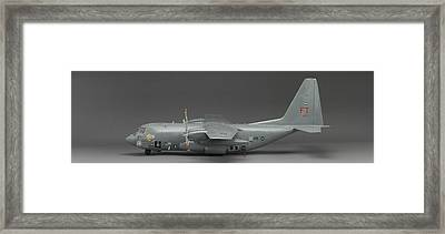 Ac 130 Gunship Side View Framed Print by Robert Mollett