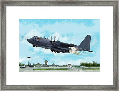 Ac 130 Spectre Gunship Framed Print by Jim Hubbard