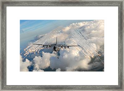 Ac-130h-u Gunship Aircraft Framed Print by Celestial Images
