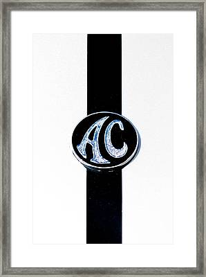 Ac Cobra Badge Framed Print by Phil 'motography' Clark
