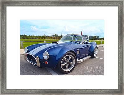 Ac Cobra Framed Print by Carey Chen