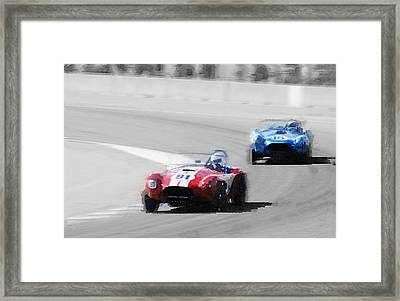 Ac Cobra Racing Monterey Watercolor Framed Print by Naxart Studio