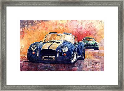 Ac Cobra Shelby 427 Framed Print by Yuriy  Shevchuk