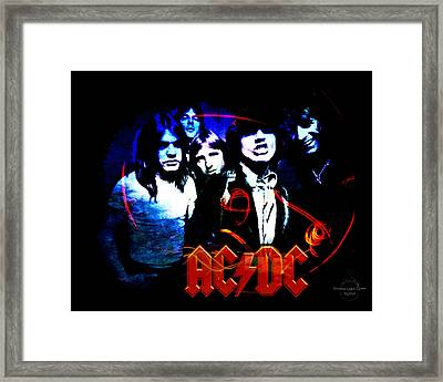 Ac/dc  Framed Print by Absinthe Art By Michelle LeAnn Scott