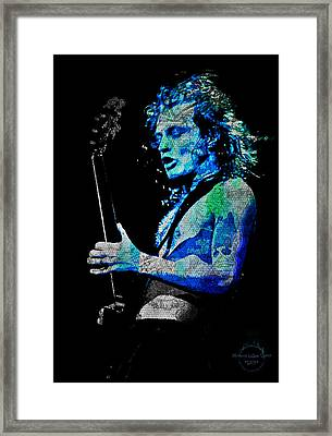 Ac/dc - Angus Young Framed Print by Absinthe Art By Michelle LeAnn Scott