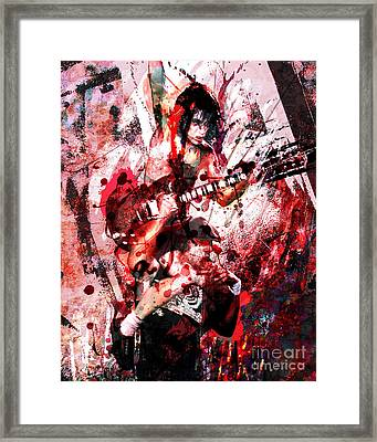 Ac Dc Original  Framed Print by Ryan Rock Artist