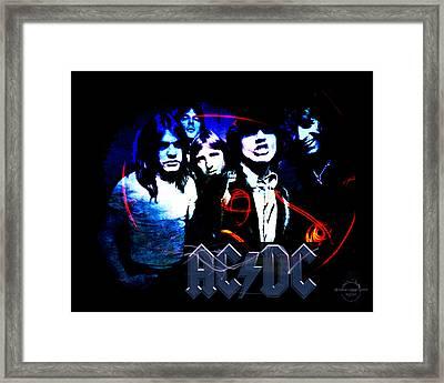 Ac/dc - Rock Framed Print by Absinthe Art By Michelle LeAnn Scott