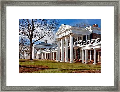 Academical Village At The University Of Virginia Framed Print