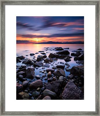 Acadia Beach Framed Print
