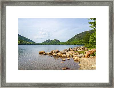 Acadia Bubble Mountains  Framed Print