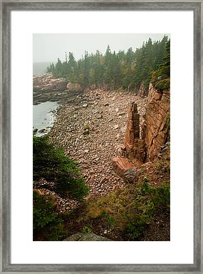 Acadia Fog At Monument Cove 4337 Framed Print by Brent L Ander