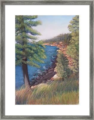 Acadia Morning Framed Print
