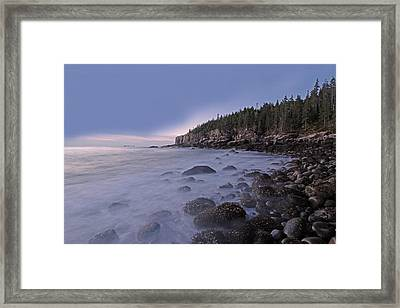 Acadia Morning Mist Framed Print by Juergen Roth