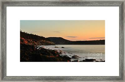 Acadia Morning Framed Print by Paul Noble