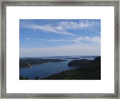 Acadia Mountain View Framed Print by Jessica Fialkovich