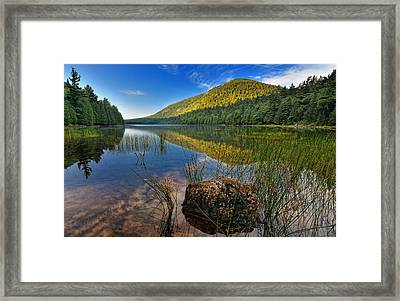 Acadia National Park-bubbles Pond Framed Print by Thomas Schoeller