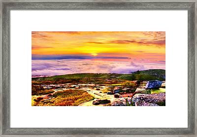 Acadia National Park Cadillac Mountain Framed Print